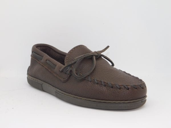 womens mocs moosehide classic chocolate 492