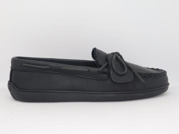 womens mocs moosehide classic black 499