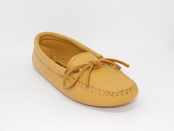 womens mocs double deerskin softsole natural 216