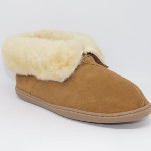 womens slippers sheepskin ankle boot tan 3351