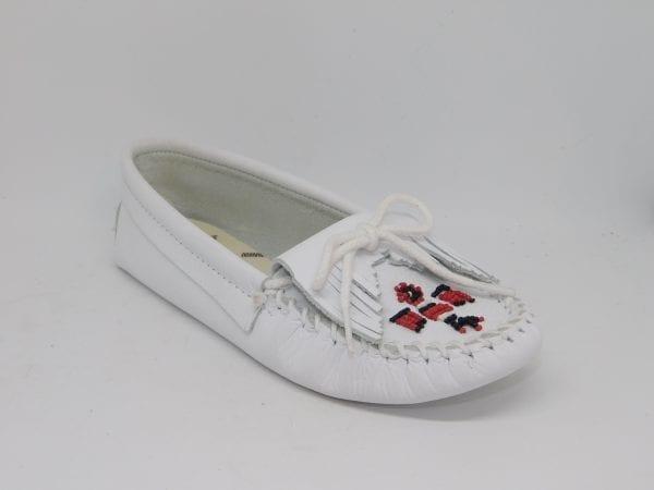 womens mocs thunderbird softsole white 154