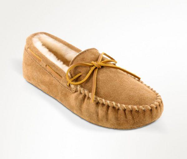 mens slippers sheepskin softsole tan 3711