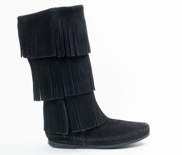 womens boots 3 layer calf black 1639