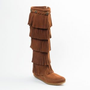 5-Layer Fringe Boot womens boots 5 layer brown 1652