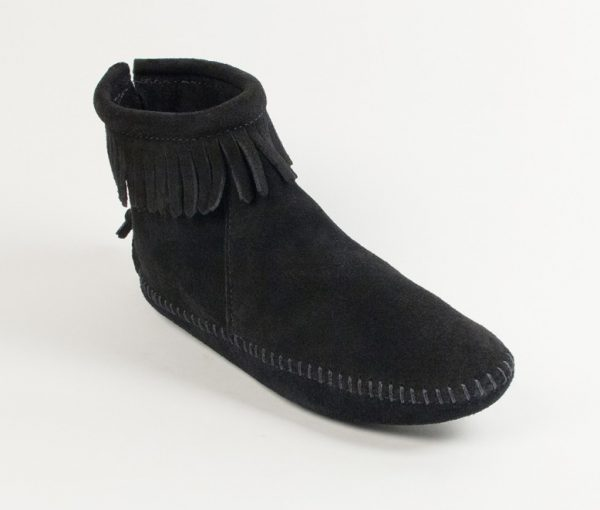 womens boots back zip softsole black 189