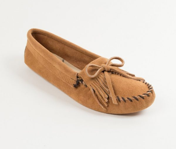 womens mocs kilty taupe softsole 107t