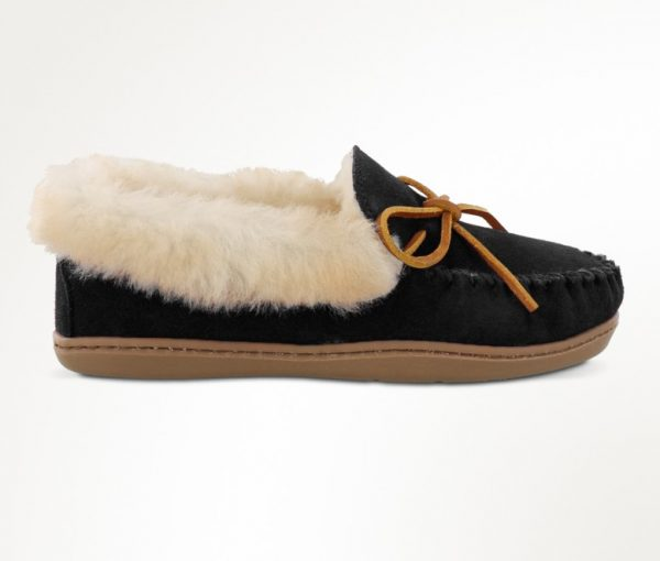 womens slippers alpine sheepskin black 3370