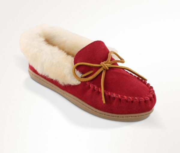 womens slippers alpine sheepskin red 3376