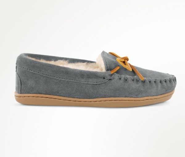 womens slippers sheepskin hardsole grey 3345