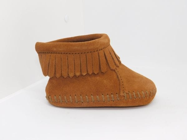 back flap bootie brown