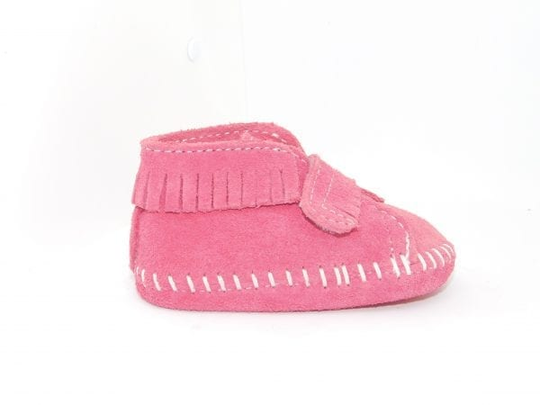front strap bootie pink