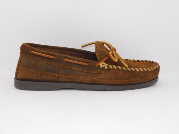 mens mocs double bottom hardsole brown 823