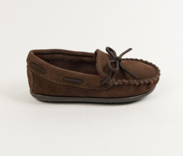 boys mocs chocolate 2773
