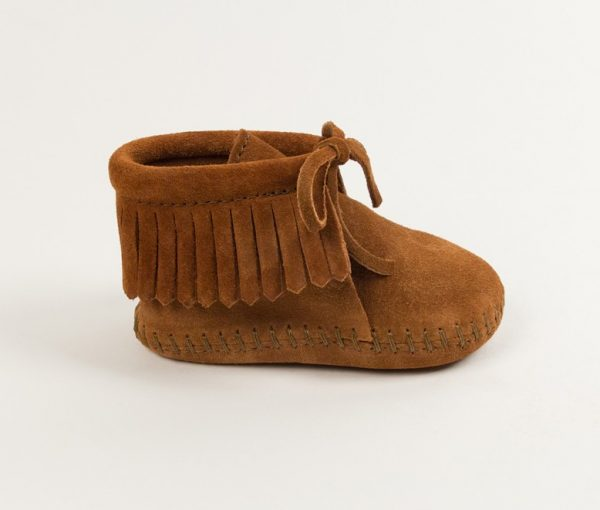 infants boots fringe brown 1482