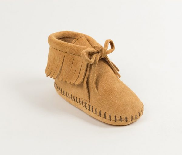 infants boots fringe tan 1481