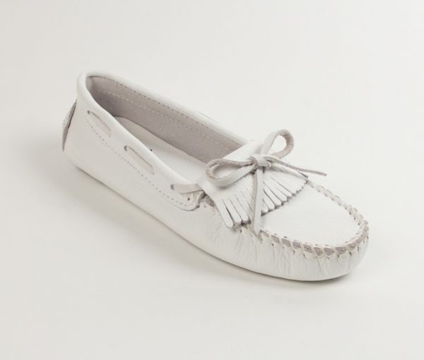 womens mocs kilty driving white 594